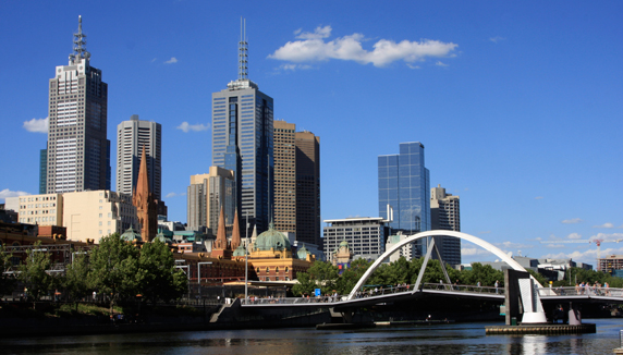 A beautiful view of Melbourne