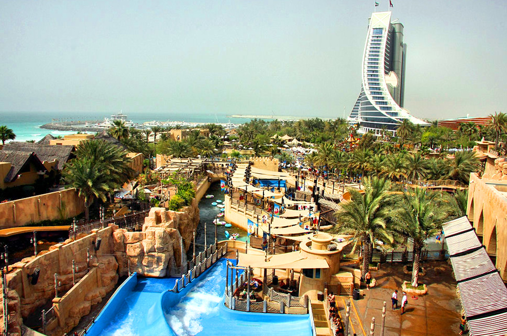 wild wadi water park, the beautiful theme park in dubai