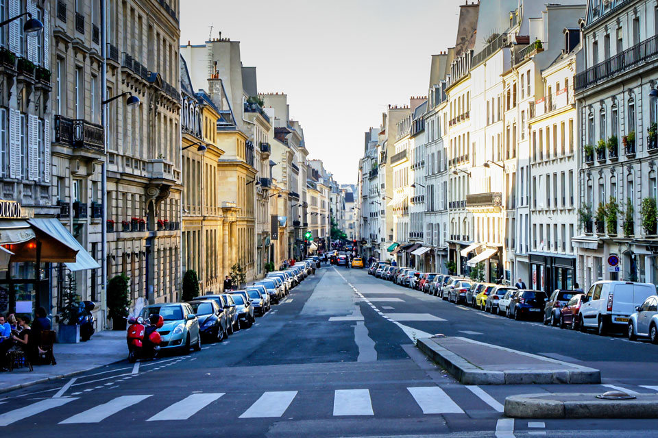 Streets of Paris, France