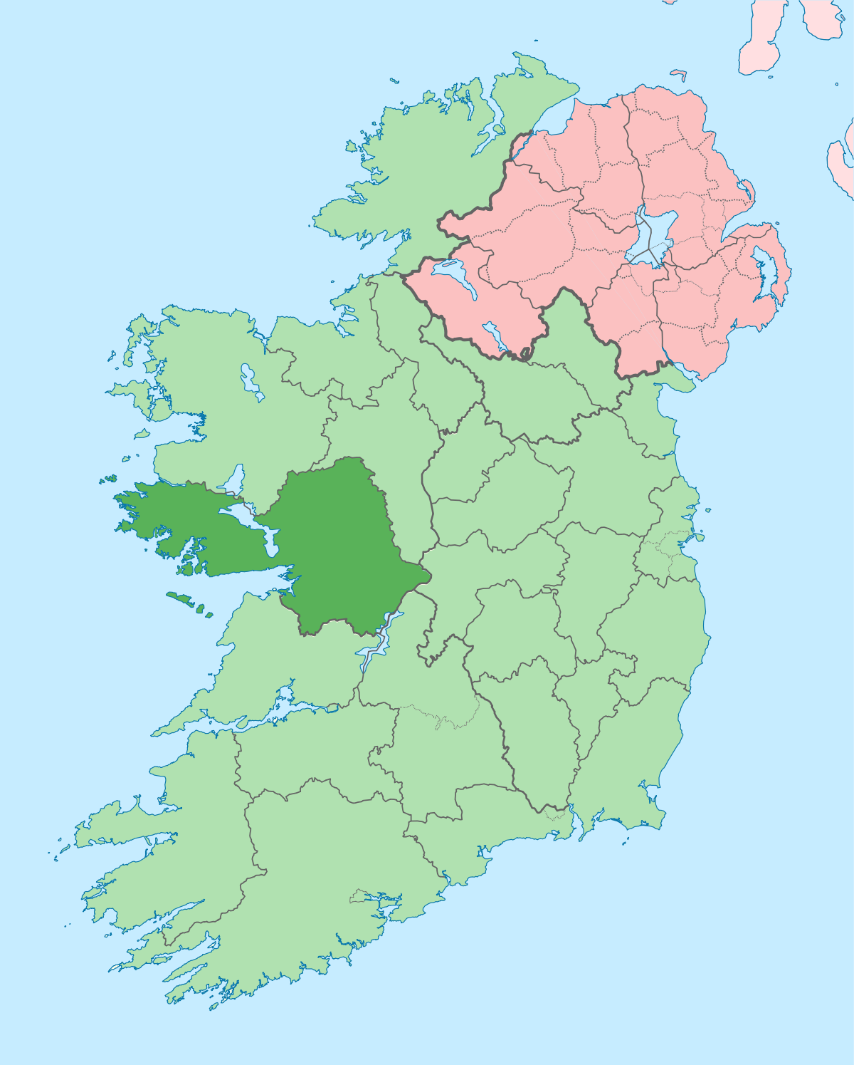 Galway County map