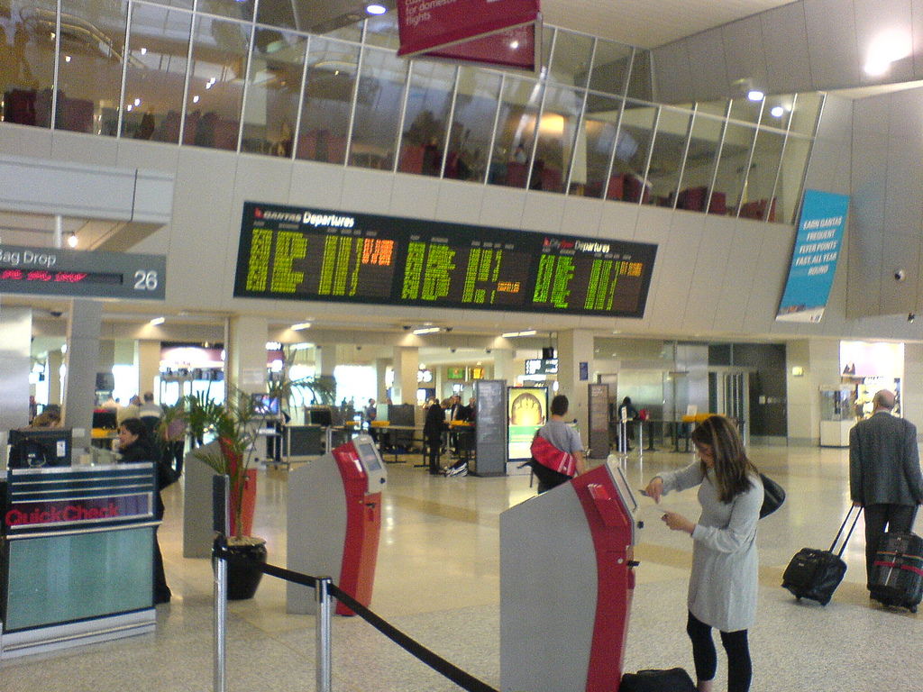 Melbourne Airport inside
