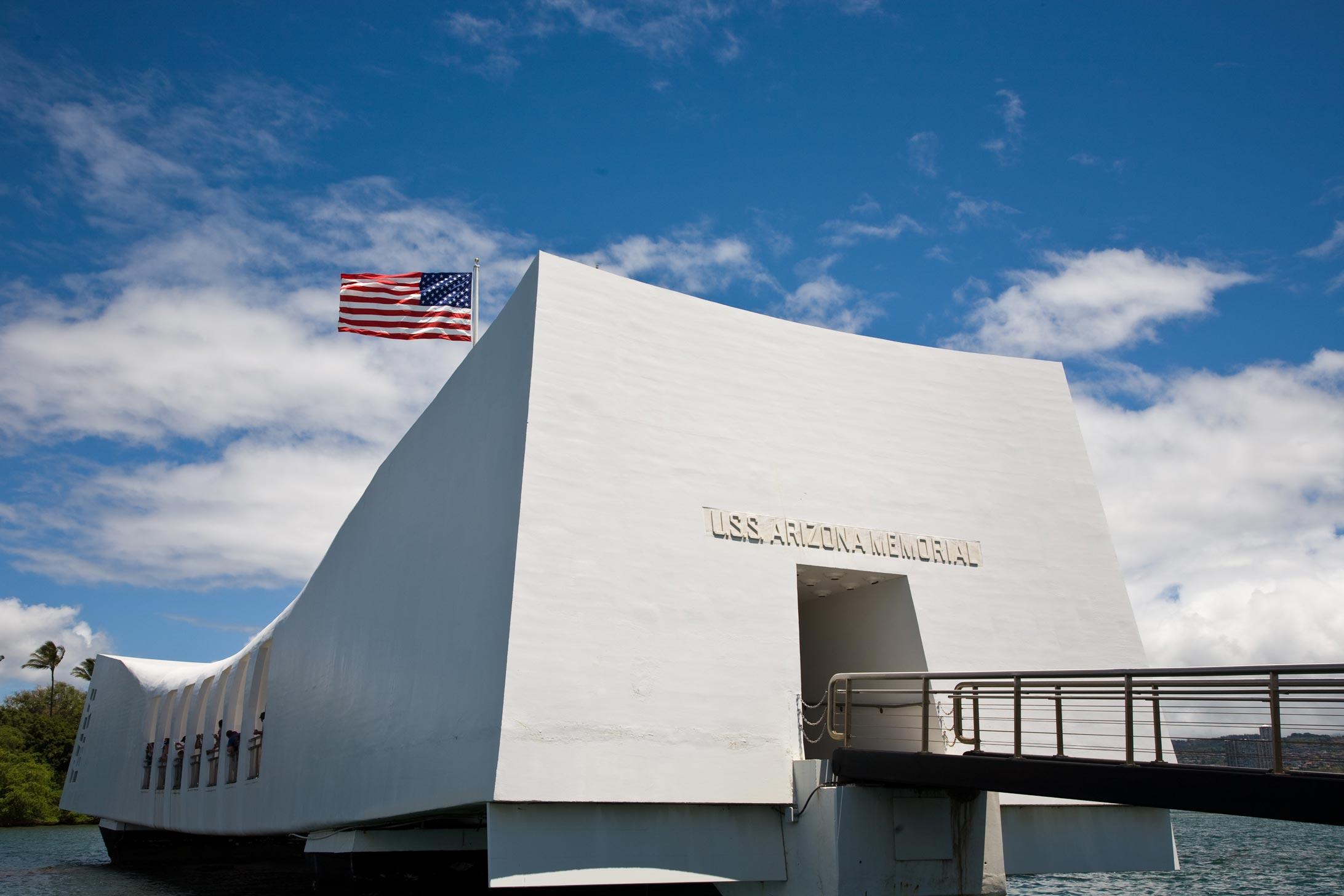 USS Arizona Memorial In Honolulu, Hawaii