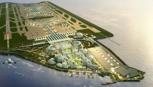 ariel view of hong kong international airport