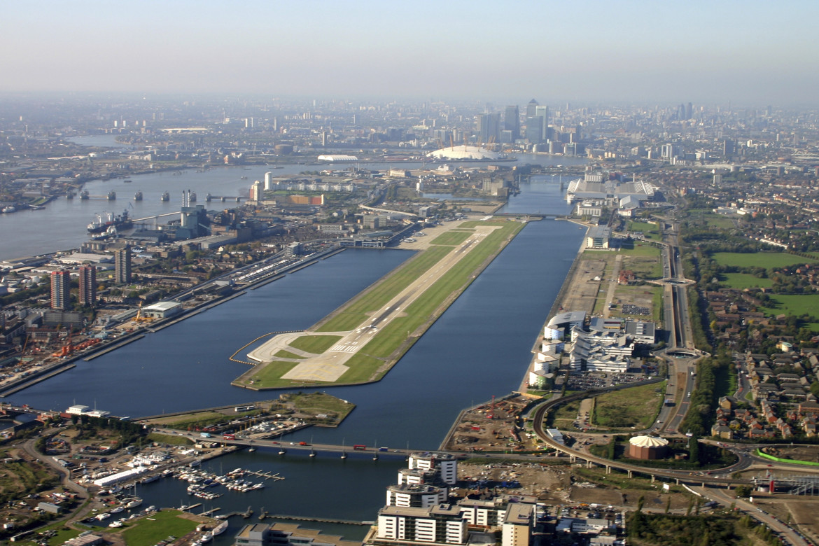 London City Airport bird's eye view