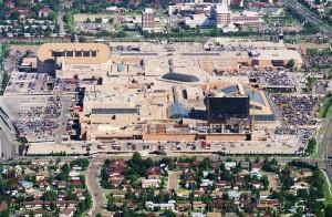 ariel view of west edmonton mall