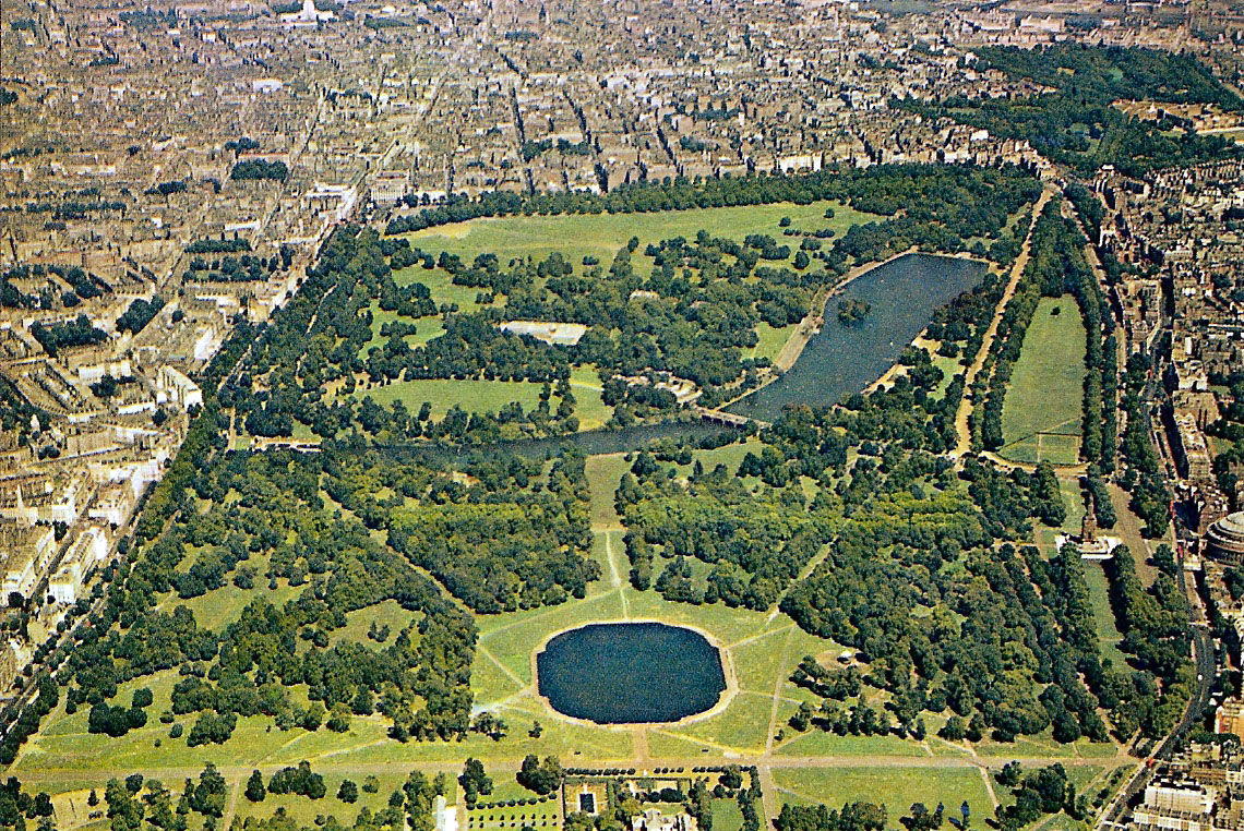 hyde park areil view