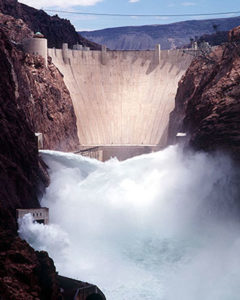 Hoover concret arch gravity dam