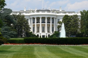 beautiful exterior of white house