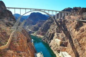 view of Hoover Dam bridge