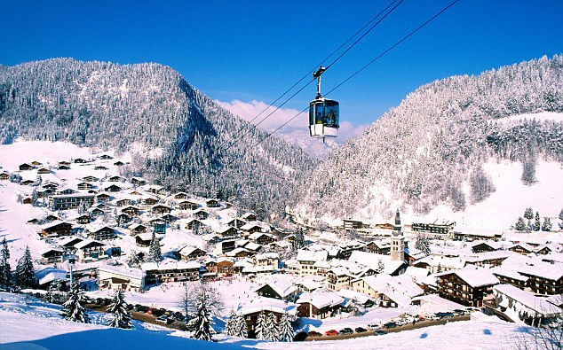 France, Haute Savoie, village of La Clusaz in the Aravis massif