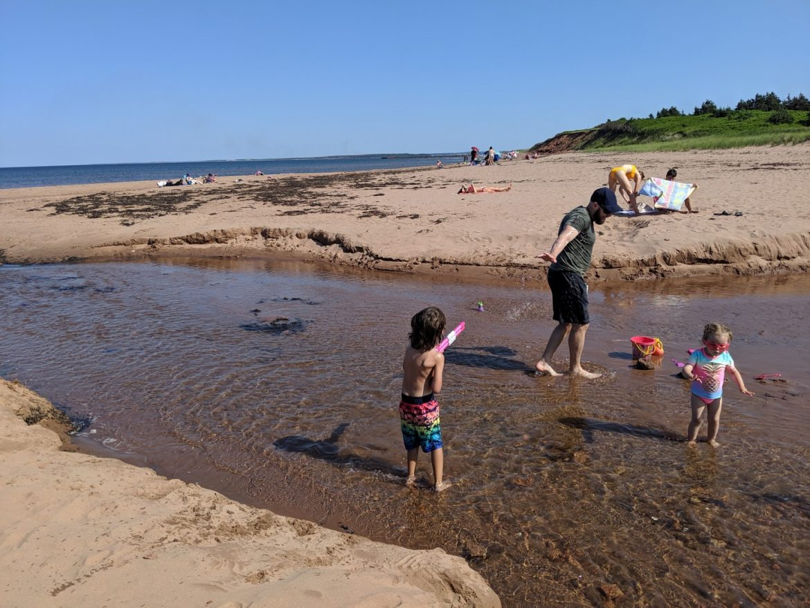 PEI beaches Cavendish Beach, Singing Sands, Red Sand, Camping