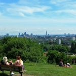 London's Hampstead Heath and Highgate Hill in summer