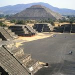 Golden trip to ruins of Xochicalco in Mexico