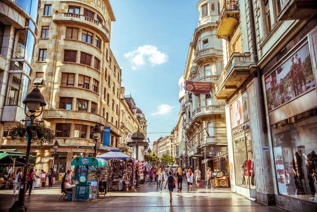 Serbia. Knez Mihailova Street, a main shopping mile of Belgrade.